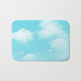 Aqua Blue Clouds Bath Mat