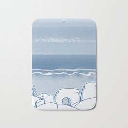 In Paradise Labyrinth Andre Bloc Bath Mat