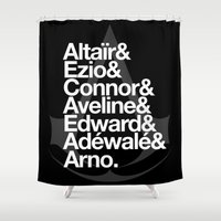 assassins creed Shower Curtains featuring Creed by Outside In