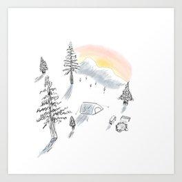 The little campsite Art Print