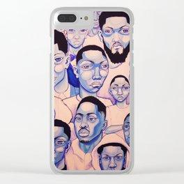 Black Boy Blues Clear iPhone Case