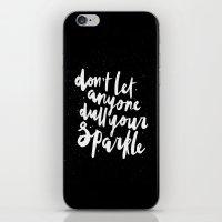 sparkle iPhone & iPod Skins featuring Sparkle by Evelyne van den Broek