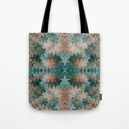 South Western Abstract Mirrored Wavy Pattern Tote Bag