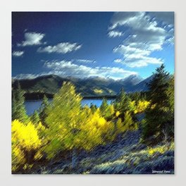 Aspen Trees at Twin Lakes, Colorado Painting by Jeanpaul Ferro Canvas Print
