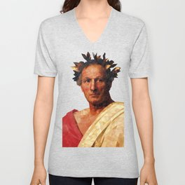 Historical Figures - Julius Caesar Unisex V-Neck