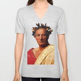 Historical Figures - Julius Caesar Unisex V-Neck