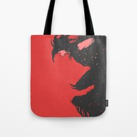 nightmare Tote Bags featuring Nightmare by Pulvis