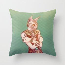 Safiya The Sphynx Cat Throw Pillow
