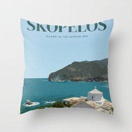Visit Skopelos Throw Pillow