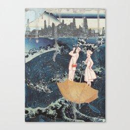 Tourists (After Hokusai) Canvas Print