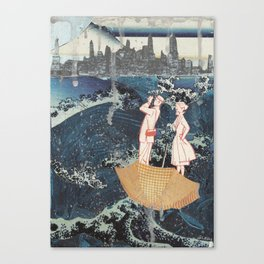 Tourists (After Hokusai) Canvas Print