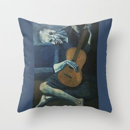 Pablo Picasso - The Old Guitarist Throw Pillow
