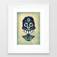 calavera Framed Art Prints featuring Calavera by Eric Peterson
