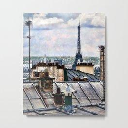 Montmartre Rooftop Metal Print