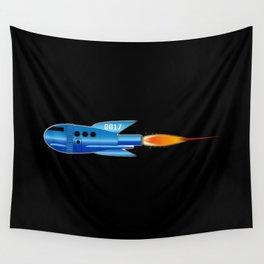 2017 Cartoon Rocket Wall Tapestry