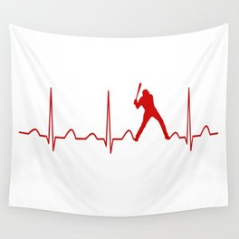 SOFTBALL MAN HEARTBEAT Wall Tapestry
