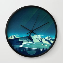 Alpine Hut Wall Clock