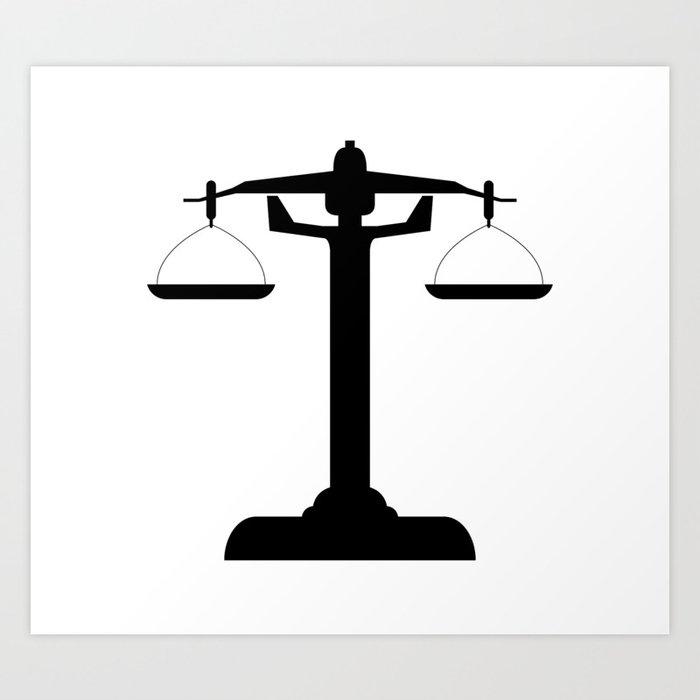 weight scale Kunstdrucke