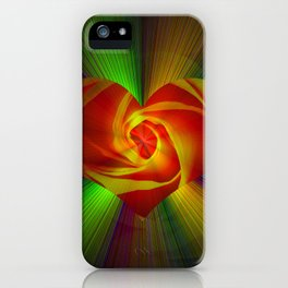 Abstract in perfection - Rose iPhone Case