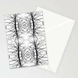 Black Branches on White Pattern Abstract Stationery Cards
