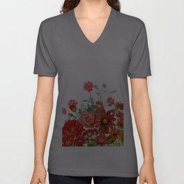 Vintage & Shabby Chic - Red Summer Flower Garden Unisex V-Ausschnitt