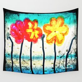 Flowers by James Eye Wall Tapestry