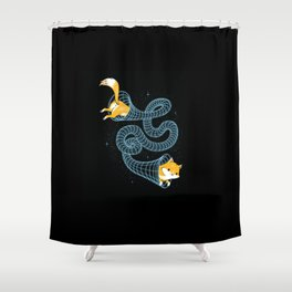 Wormhole Cat Shower Curtain