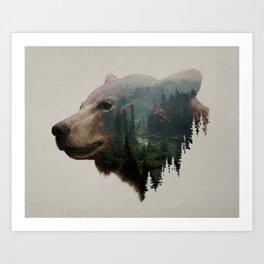 The Pacific Northwest Black Bear Art Print