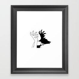 elk shadow Framed Art Print