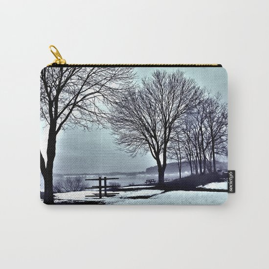 Winter Trees by the Lake Carry-All Pouch