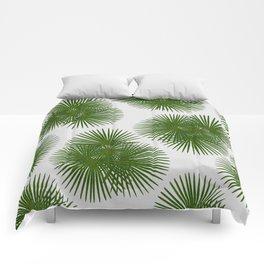 Fan Palm, Tropical Decor Comforters