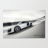 audi Canvas Prints featuring Audi R8 - V8  by Cullen Cheung Photos