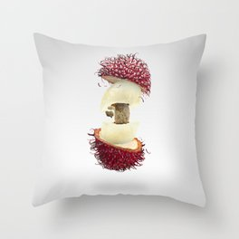 Flying Rambutan Throw Pillow