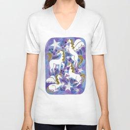 OMG Unicorns Unisex V-Neck