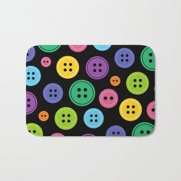 Colorful Rainbow Buttons Bath Mat