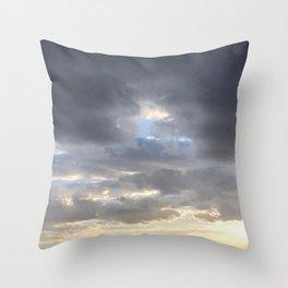 Heaven Sky is open Throw Pillow