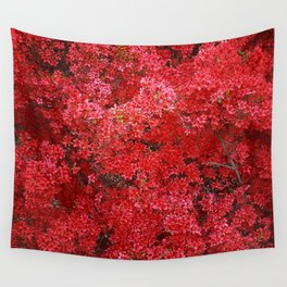 Charming Red Flower Wall Tapestry