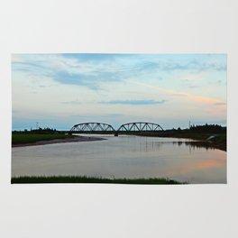 Sackville Train Bridge at Sunset Rug