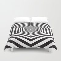 hexagon Duvet Covers featuring Hexagon by Vadeco