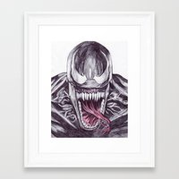 venom Framed Art Prints featuring Venom by DeMoose_Art