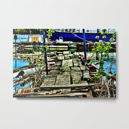 Abandoned Port Danube River  Metal Print
