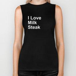 I Love Milk Steak Biker Tank