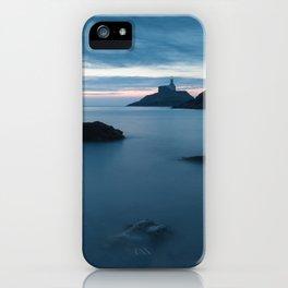Sunrise at Mumbles Lighthouse iPhone Case