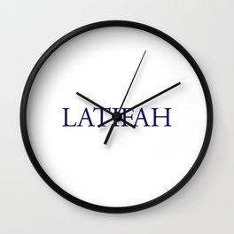 Latifah Wall Clock