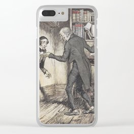 """Arthur Rackham - Dickens' Christmas Carol (1915): """"Now, I'll tell you what, my friend."""" Clear iPhone Case"""