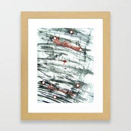 Share some love Framed Art Print
