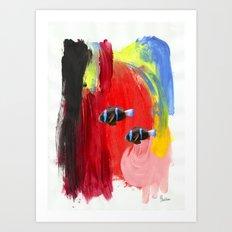 Paint the Blues Away Oceanic Art Print
