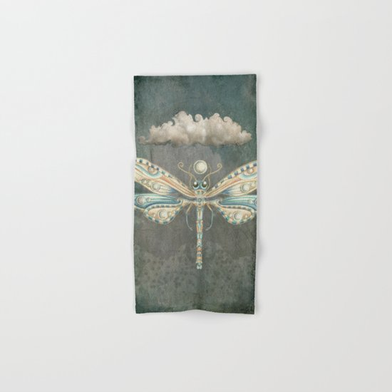 Dragonfly of the moon Hand & Bath Towel