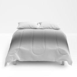 White to Black Horizontal Bilinear Gradient Comforters