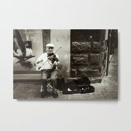 Seasoned Violinist Metal Print